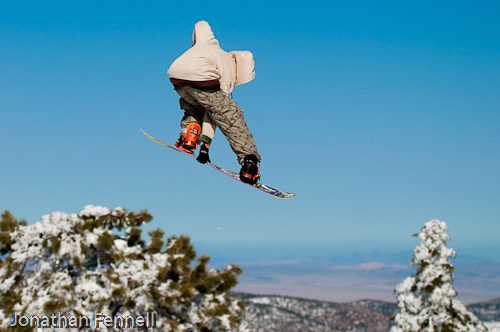 snowboarder grabbing some air