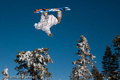 snowboarding air photo