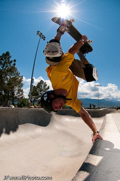 Skateboard Invert in Pool