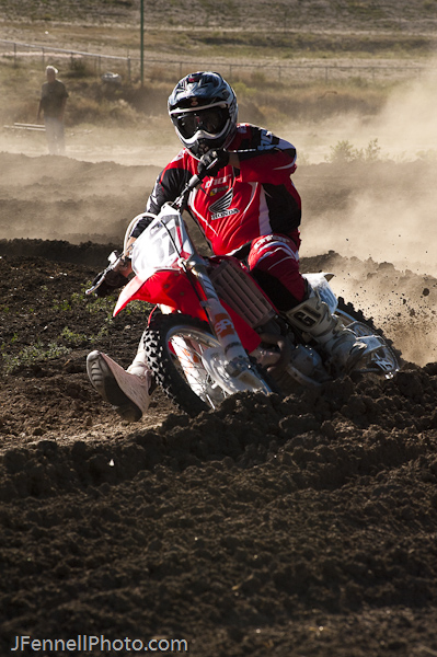 Late Day Berm Motocross Shot