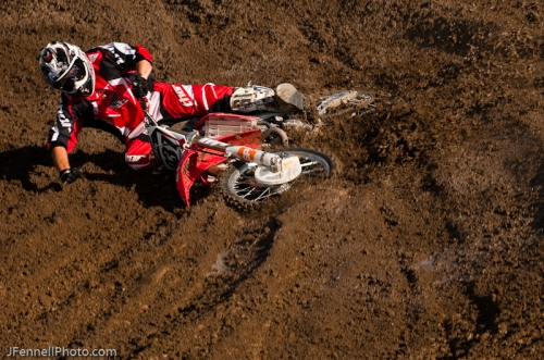 Photo of Motocross rider crashing