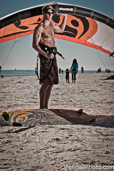 Kiteboard Athlete Lifestyle Portrait Photograph
