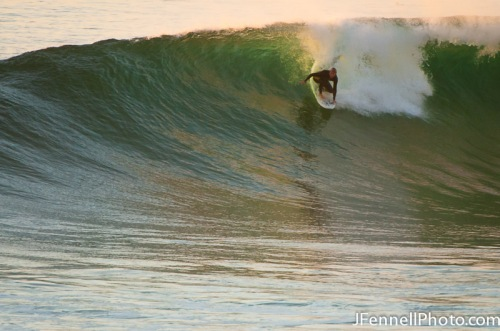 Surfing a little gem during evening session at Black's