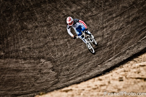Connor Fields Banking into a Berm