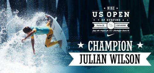 Julian Wilson US Open of Surfing Champion